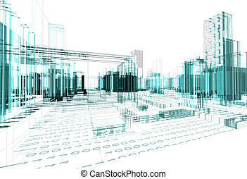 Abstract architecture background - Architectural design of...