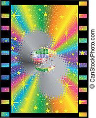 colored mirror ball