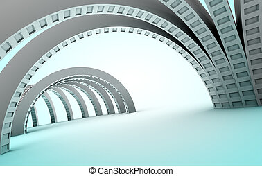 Abstract architecture - Background 3d abstract architecture...