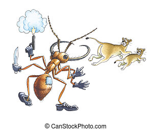Army ant (Driver ants or  Legionary ant)