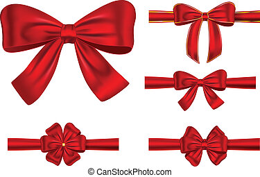 Red ribbons with bows