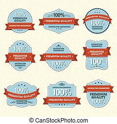 Set of Premium Quality Labels - Set of vector premium...