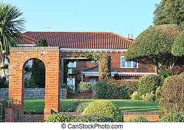 large house and garden - large house with immaculate garden