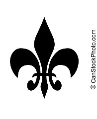 fleur de lis on a white background