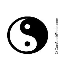 jing jang - Jing Yang symbol on a white background