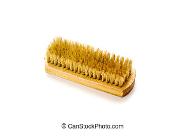 Brush for clothers on white background