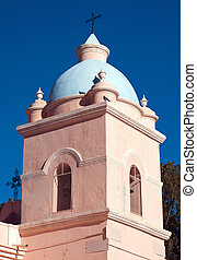 Tower of a rural church - Tower of the church in Seclantes...