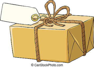 Box on a white background, vector illustration