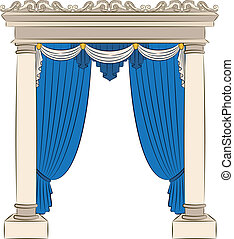 The vintage arch with curtain