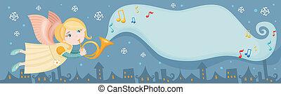 christmas card - Vector illustration of a cute christmas...