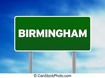 Green Road Sign - Birmingham, England - Green Birmingham,...