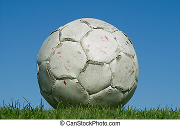 Dirty old soccer ball