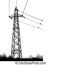 transmission tower - vector illustration of a transmission...