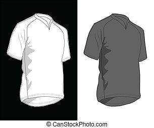 t-shirts - illustration of a black and a white t-shirt