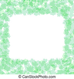 Foliage frame with summer nature leaves vector background