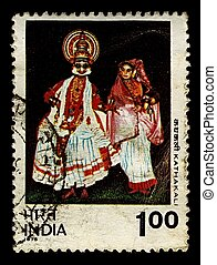 Postage stamp. - India-CIRCA 1975:A stamp printed in India...