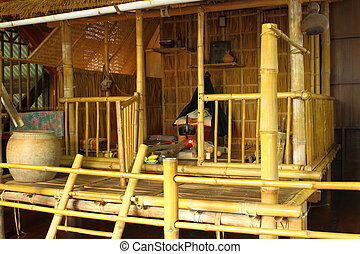 Bamboo hut on native style of Thailand