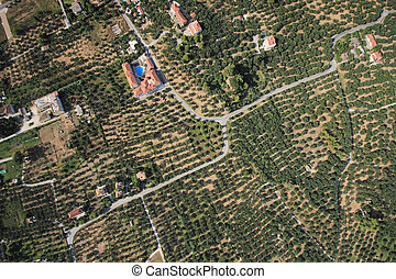 Aerial view on Zakynthos Greece - Aerial view on the island...
