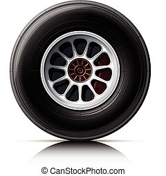 sports car wheel vector illustration isolated on white...
