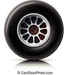 deportes, coche, rueda