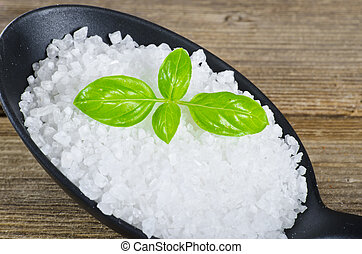 Kalahari salt roughly with basil
