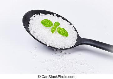 Kalahari salt roughly with basil