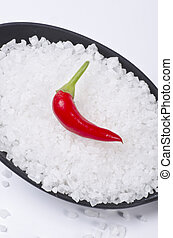 Kalahari salt roughly with chilli