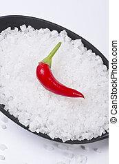 Kalahari salt roughly with chilli