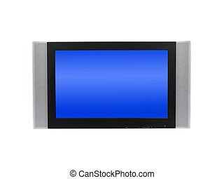 Flat Screen TV - Flat screen tv isolated against a white...