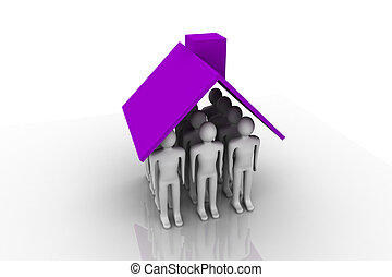 Home Owner - Home Owner. Concept depicting a man inside...