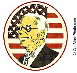 American businessman dollar sign