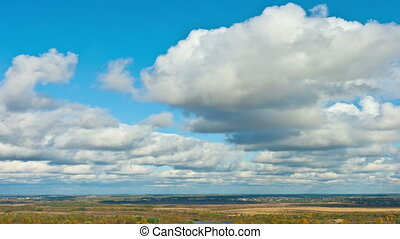 Clouds over the plain, time-lapse