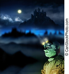 Halloween figure - Halloween image of a mad scientist with...