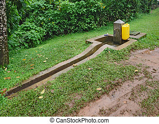 standpipe at the Bwindi National Park - a standpipe in the...
