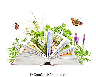 Book of nature. Isolated over white