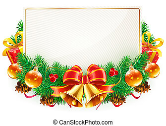 Christmas decorative frame