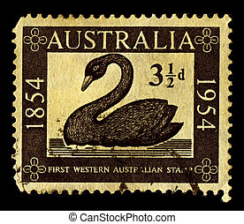 Postage stamp - Australia-CIRCA 1954:A stamp printed in...