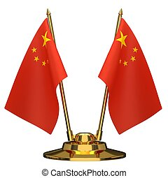 Desktop flagpole flags of China