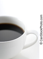 cup coffee on white background