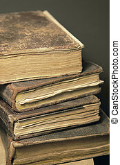 stack of historic books