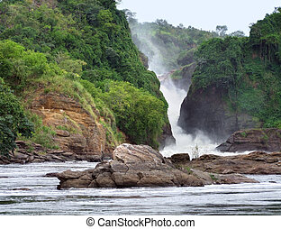 Murchison Falls in Uganda - the Murchison Falls in Uganda...