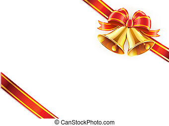 Christmas wrapping - Vector illustration of two Christmas...