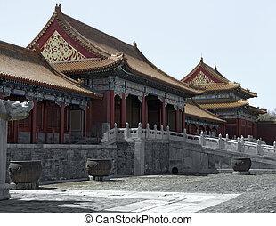 Forbidden City in Beijing - scenery inside the Forbidden...