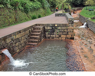 mineral spring canalisation at Sao Miguel Island, the...