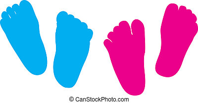 child feet his and hers - child feet silhouette