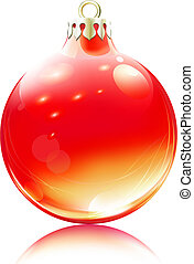 Christmas decoration - Vector illustration of cool red...