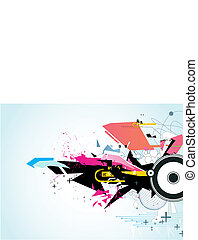 abstract urban background - Vector illustration of abstract...