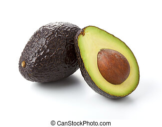 Avocado - A fresh avocado cut in half.