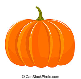 Pumpkin illustration isolated over white