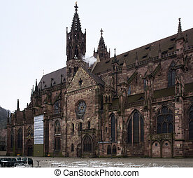 cathedral in Freiburg (Germany)